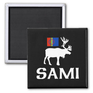 Sami, the People of Eight Seasons 2 Inch Square Magnet
