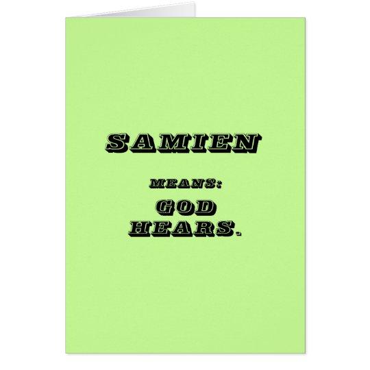 Samien Card