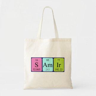 Samir periodic table name tote bag