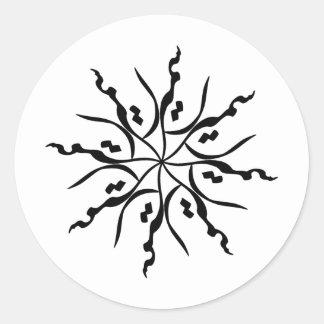 Samira 002 classic round sticker