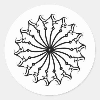 Samira 012 classic round sticker
