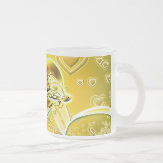 Samira Frosted Glass Coffee Mug