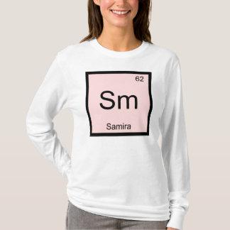 Samira Name Chemistry Element Periodic Table T-Shirt