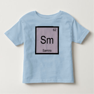 Samira Name Chemistry Element Periodic Table Toddler T-shirt