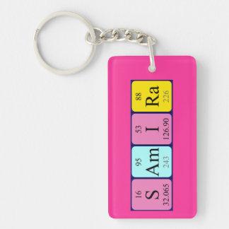 Samira periodic table name keyring keychain