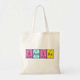 Samira periodic table name tote bag