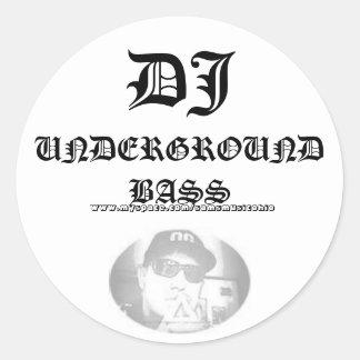 SamixMusic, DJ, UNDERGROUND BASS,   www.myspace... Classic Round Sticker
