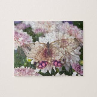 Sammamish Washington Photograph of Butterfly on 15 Jigsaw Puzzle