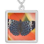 Sammamish, Washington. Tropical Butterflies 53 Square Pendant Necklace