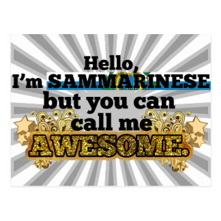 Sammarinese, but call me Awesome Postcard