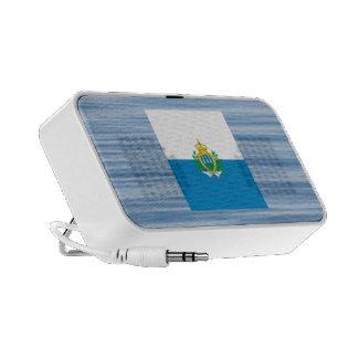 Sammarinese Flag Floating on water Mp3 Speaker