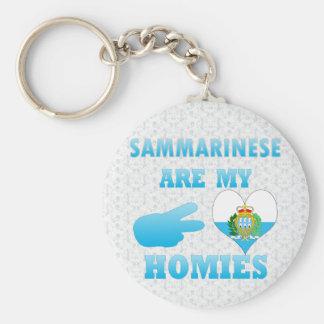 Sammarineses es mi Homies Llavero Redondo Tipo Pin
