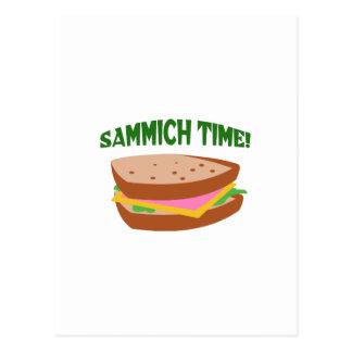 SAMMICH TIME POSTCARD