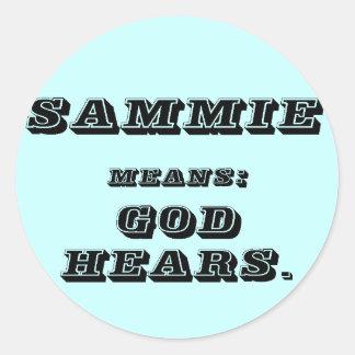 Sammie Classic Round Sticker