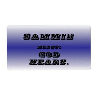 Sammie Label