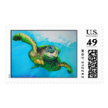 Sammie the Green Sea Turtle Postage Stamp