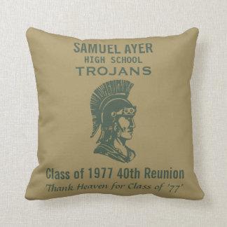 Sammy Ayer Class of 77 40th Reunion Memento Throw Pillow