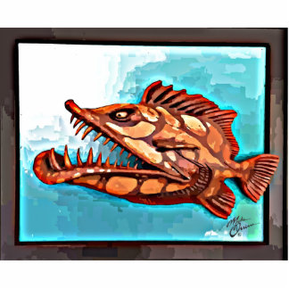 """""""Sammy"""" Fish with Attitude, by Mike Quinn Statuette"""