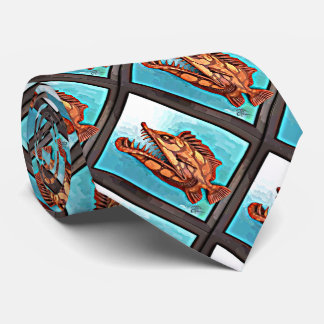 """""""Sammy"""" Fish With Attitude by Mike Quinn Tie"""