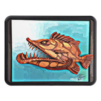 """Sammy"" Fish With Attitude by Mike Quinn Trailer Hitch Cover"