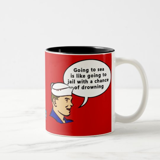 Sammy Sailor Two-Tone Coffee Mug