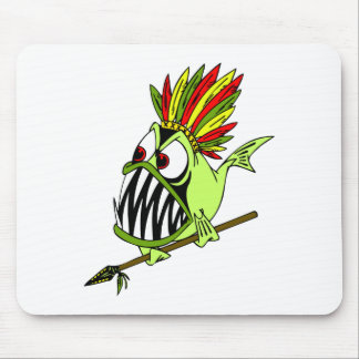 Sammy Surfer - Crazy Indian Fish Mouse Pad
