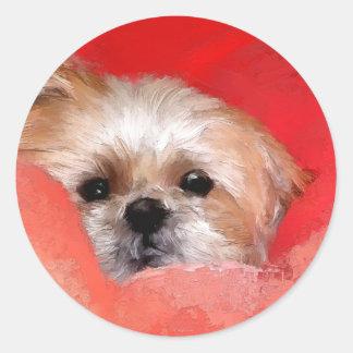 Sammy the beautiful flower classic round sticker
