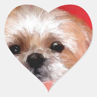 Sammy the beautiful flower heart sticker