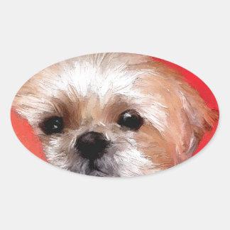 Sammy the beautiful flower oval sticker