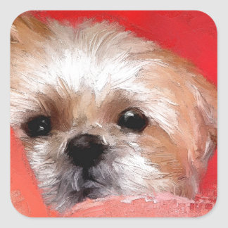 Sammy the beautiful flower square sticker