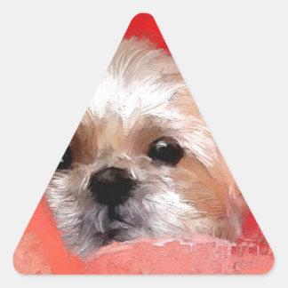 Sammy the beautiful flower triangle sticker