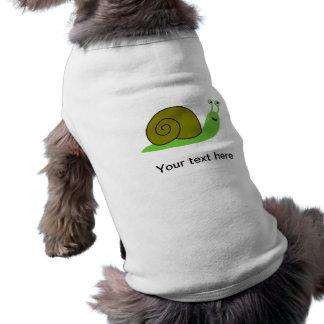 Sammy the Green Garden Snail Pet Tee Shirt