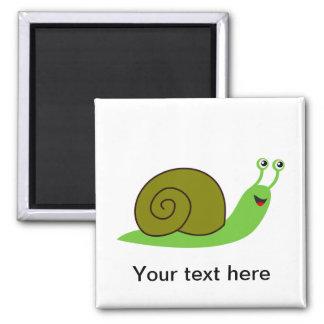 Sammy the Green Garden Snail Magnet