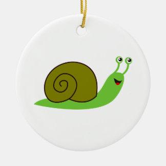 Sammy the Green Garden Snail Christmas Ornament