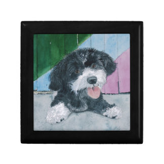 Sammy the Parti-Poodle Pup Keepsake Box