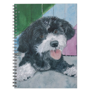 Sammy the Parti-Poodle Pup Spiral Notebook