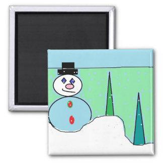 Sammy The Snowman Refrigerator Magnets