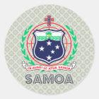 Samoa Coat of Arms Classic Round Sticker