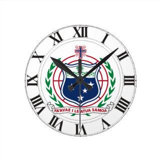 Samoa Coat of Arms Clock