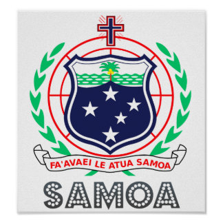 Samoa Coat of Arms Poster