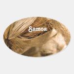 Samoa Coconut Oval Sticker