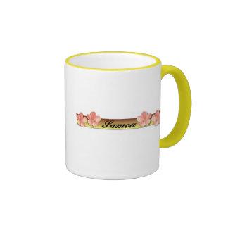 Samoa en barra de oro tazas de café