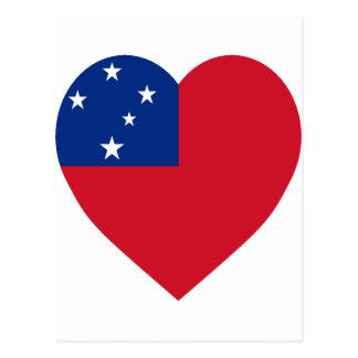 Samoa Flag Heart Postcard