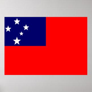 Samoa Flag Poster