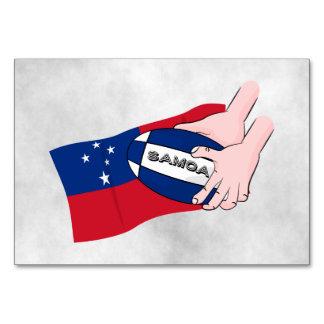 Samoa Flag Rugby Ball Pass Card