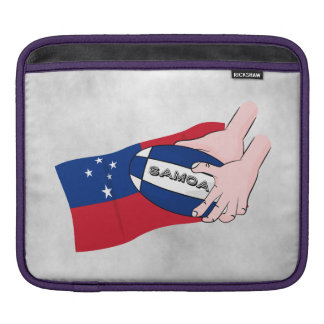 Samoa Flag Rugby Ball Pass Cartoon Sleeve For iPads
