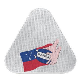 Samoa Flag Rugby Ball Pass Cartoon Speaker