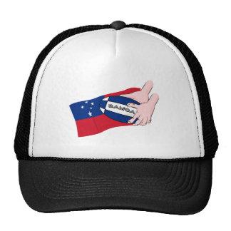 Samoa Flag Rugby Ball Pass Cartoon Trucker Hat