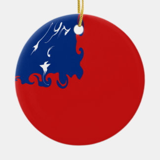 Samoa Gnarly Flag Double-Sided Ceramic Round Christmas Ornament