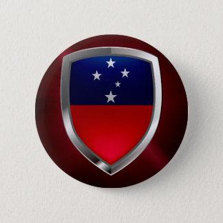 Samoa Metallic Emblem Button